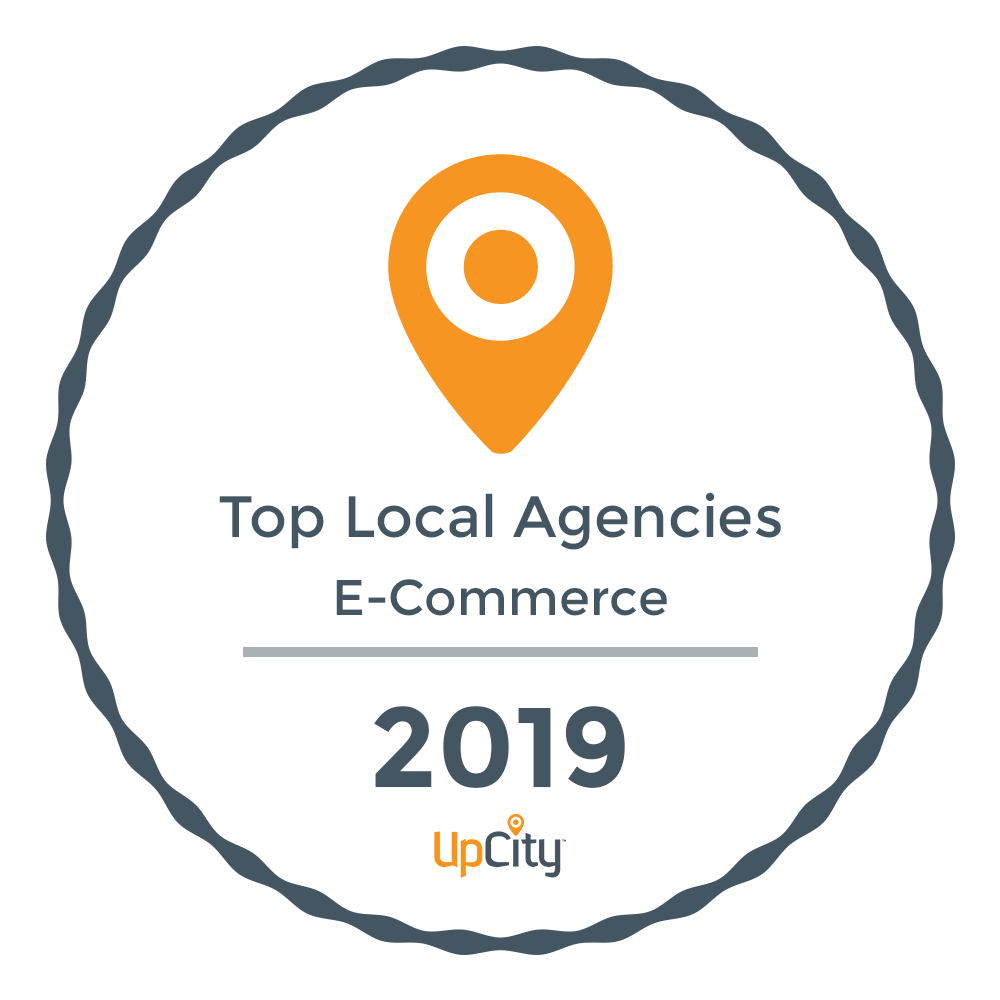 UpCity Badge 2019 Top Local Agencies E-Commerce