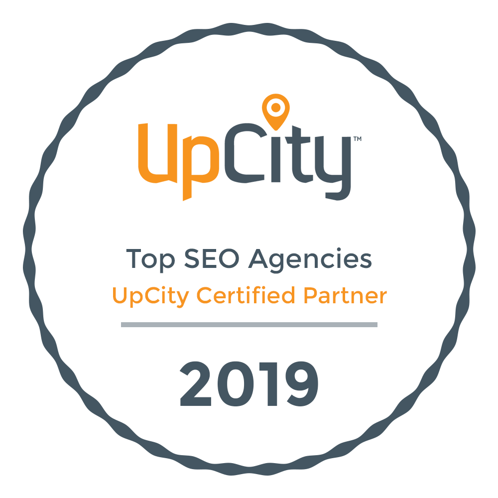 Up City Award - Top SEO Agencies - Up City Certified Partner 2019